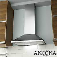 "NEW ANCONA PYRAMID 30"" STAINLESS WALL RANGE HOOD"