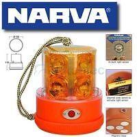 NARVA LED STROBE LIGHT BEACON AMBER BATTERY POWERED PORTABLE MAGNETIC NEW 85320A