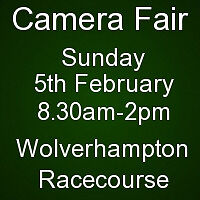 Cameras, Lenses, Accessories for sale - Sunday 5th February, Wolverhampton Racecourse