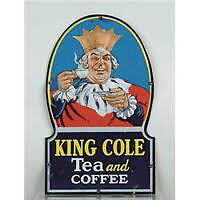WANTED: OLD METAL KING COLE TEA COFFEE SIGNS DOOR PUSH BARS ECT