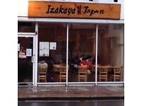 Waiters and Waitresses required at Izakaya Japanese restaurant, Finchley Central, London.