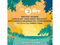 4 tickets for radio 2 Festival in a day 10/9/17