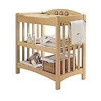 Mamas & Papas 'amelia' cot and changing unit, beech, matching set