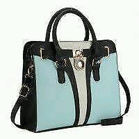 Patchwork Handbag With Padlock Detail