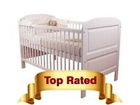 Toddler Cot Bed East Coast (RRP £125) not Boori/IKEA / John Lewis + organic baby mattress (RRP £179)