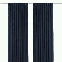 gardine blau ebay. Black Bedroom Furniture Sets. Home Design Ideas