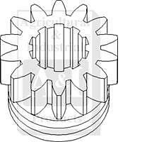 Pto Drive Gear 14 Teeth Case Tractor Vac -a29385-