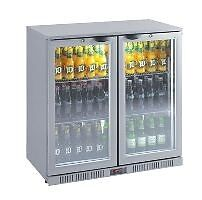 Silver Two door Bar Fridge - Great Looking and Quiet Running Malaga Swan Area Preview