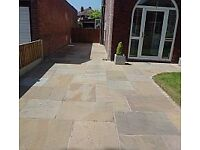 paving indian stone block paving fencing turfing drains and brickwork materials and labour free est