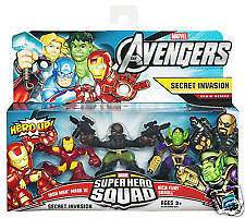 Marvel Avengers Super Hero Squad Secret Invasion Iron Man Nick Fury Skrull New