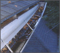 EAVESTROUGH CLEANING AND REPAIR PACKAGE  $150 FLAT RATE 5YR WARR