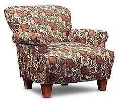 Accent Chair with ottoman and pillows