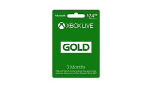 unscratched xbox live gold card available (3 Months)