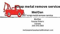 We will remove your scrap metal free of cost