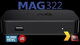 - MODEL-MAG 322/323 LATEST Linux OTT ORIGINAL INFOMIR/OPENBOX - 12 MTHS WARRANTY INC.