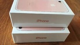 APPLE IPHONE 7 ROSE GOLD 32GB ( UNLOCKED ) BRAND NEW BOXED 1 YEAR APPLE WARRANTY
