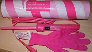 Pink Amika Clipless Tourmaline 13mm Curling Iron