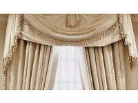 HAND MADE TO-MEASURE CURTAINS BLINDS PELMETS CHAIR COVERS BEST QUALITY FABRICS