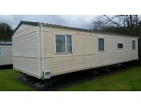 cheap 3 bed room static caravan for sale with decking and fees Deposit £3,000 60 months £452 pcm *