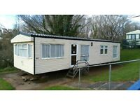 Cheap static caravan for sale on devon bay park site fees included pet friendly site. near the beach