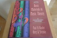 Basic Materials in Music Theory