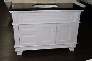 MEUBLES LAVABO DE 48'' SIMPLE BLANC