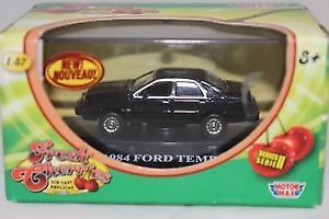 """MOTORMAX """"FRESH CHERRIES"""" HO SCALE DIECAST """"1984 FORD TEMPO"""""""