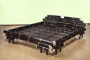 bambusbett 160x200 ebay. Black Bedroom Furniture Sets. Home Design Ideas