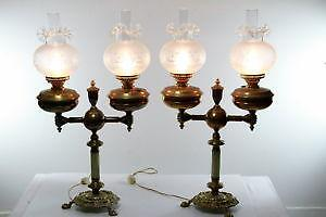 Antique Double Globe Lamp Ebay