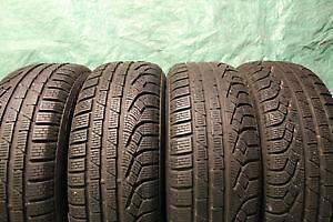 225/55R16 set of 4 Pirelli Winter Used (inst. bal.incl) 70% tread left