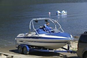 2008 Great Family Boat and Trailer with low hours