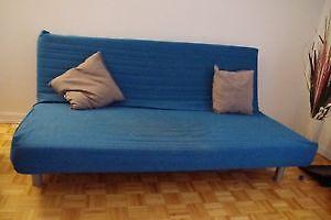 Canapé lit bleu IKEA Beddinge Lovas  - Bon état - Urgent