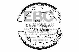 6200 EBC Rear Brake Shoes for CITROEN PEUGEOT Xsara Est 306