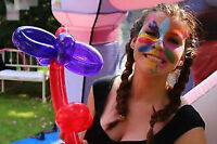 $100 Princess Clown Face painting and balloon animal party