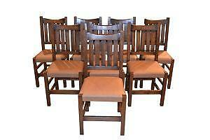 mission oak dining chairs ebay