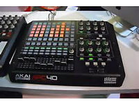 AKAI APC40 MIDI CONTROLLER ,MINT EXCELLENT CONDITION, USED LESS THAN 20 TIMES, WITH BOX AND LEADS