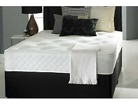 NEW DOUBLE, SMALL DOUBLE, KING SIZE DIVAN BED WITH 10 INCH DEEP MEDIUM FIRM ORTHOPAEDIC MATTRESS