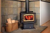 Pacific energy wood stove with blower