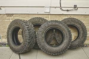 4  LT265 70R17 GOODYEAR DURATRAC M&S 10 PLY TIRES