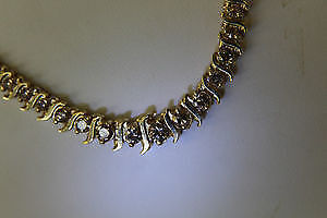 **APPRAISED** 14K Yellow Gold Diamond Necklace