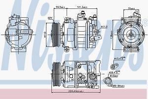Compressor (A-C) Nissens 89020