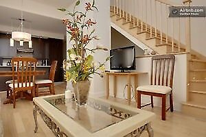 Condo Luxuex Neuf  Tout Meuble Pres d' Entrer/Furnished & Ready