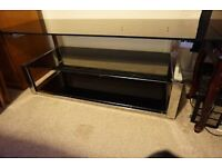 Heavy Glass Chrome TV/Stereo Unit