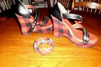 Ladies High Heel Wedges Size 7 With Matching Bracelet