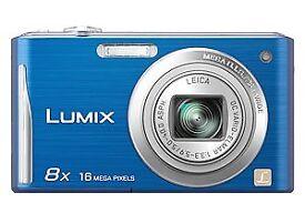 PANASONIC LUMIX 8X 16 MEGA PIXEL BLUE DIGITAL CAMERA DMC-FS35