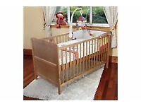 Isabella BABY Cot Bed (Stain) - Toddler Bed - Teething Rails - Used