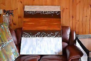 Peintures Moderne Abstraite Acrylique Toile 30'' x 40'' x 1.5''