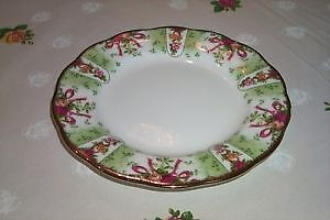 "Royal Albert Old Country Rose Green Damask 8"" Plate"