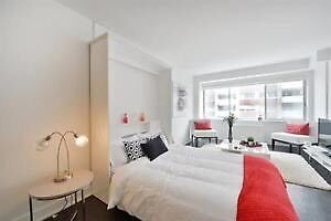 Downtown Luxurious furnished all included studio lease transfer