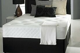 NEW SINGLE, DOUBLE, SMALL DOUBLE, KING SIZE DIVAN BED WITH MATTRESS